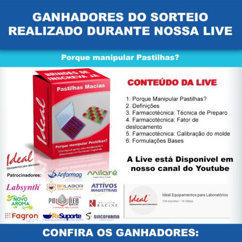 Live Pastilhas Bucais - Redes Sociais 1